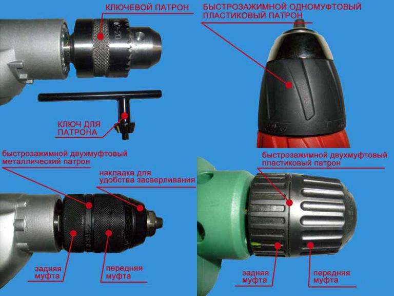 Типы патронов для дрелей
