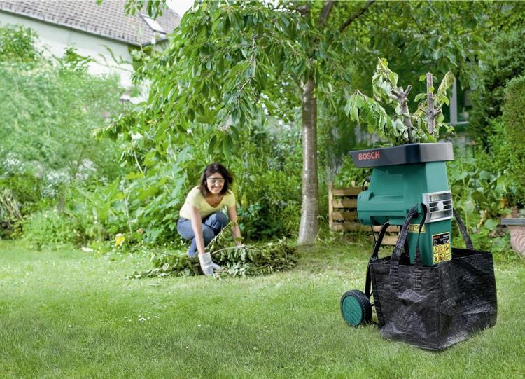 Измельчитель для травы и веток от фирмы Бош