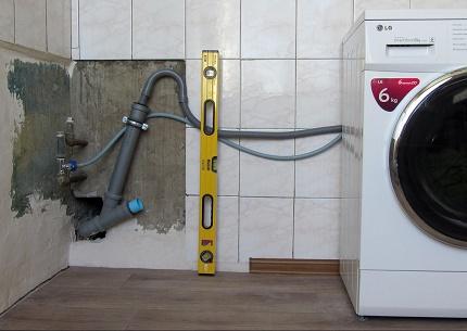 Как подключить слив стиральной машины к сифону